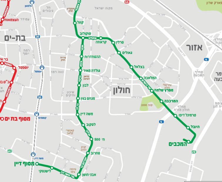 שמאי מקרקעין בחולון- קו הרכבת הירוק בעיר חולון