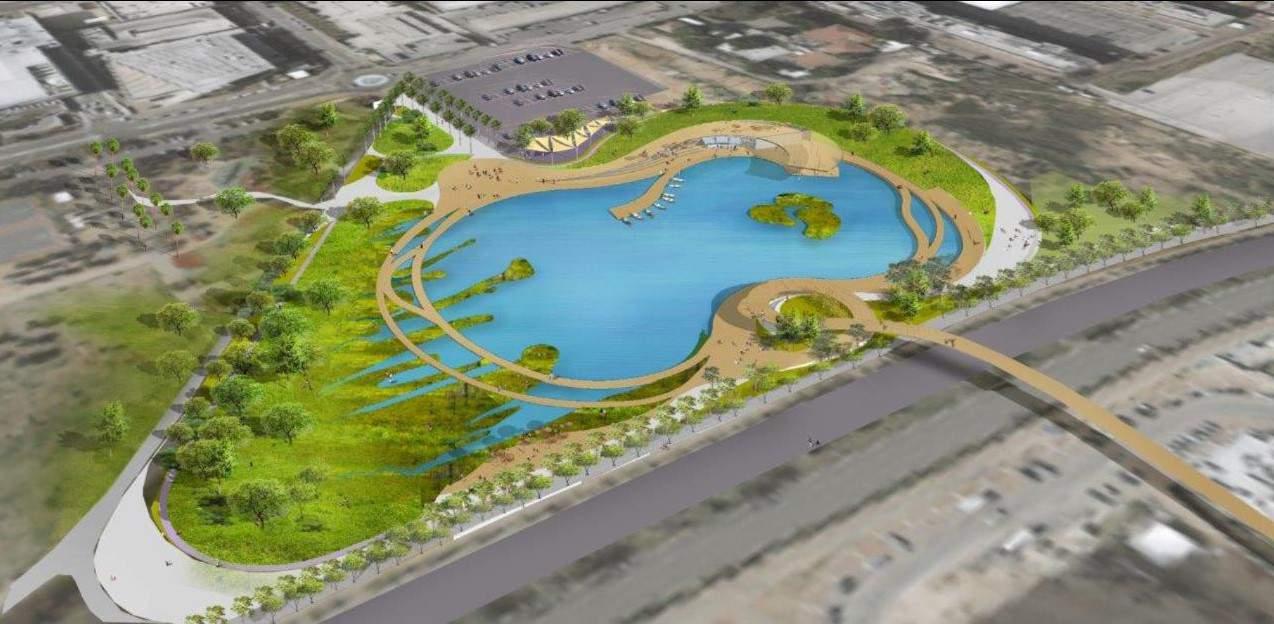 הדמיה של פרוייקט הפארק האקולוגיה בפתח תקווה
