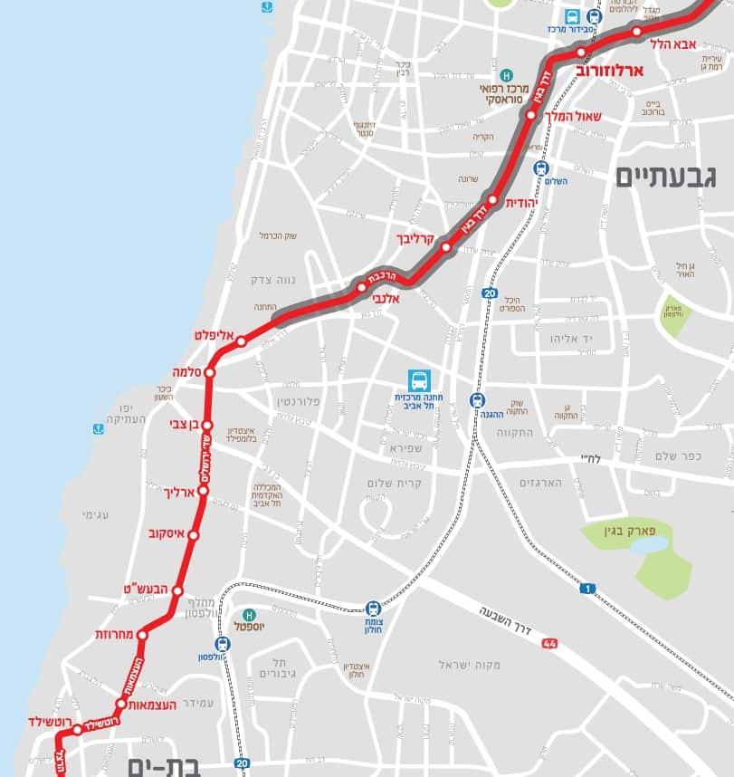 הקו האדום של הרכבת הקלה